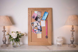 Oak and Cork Notice Board